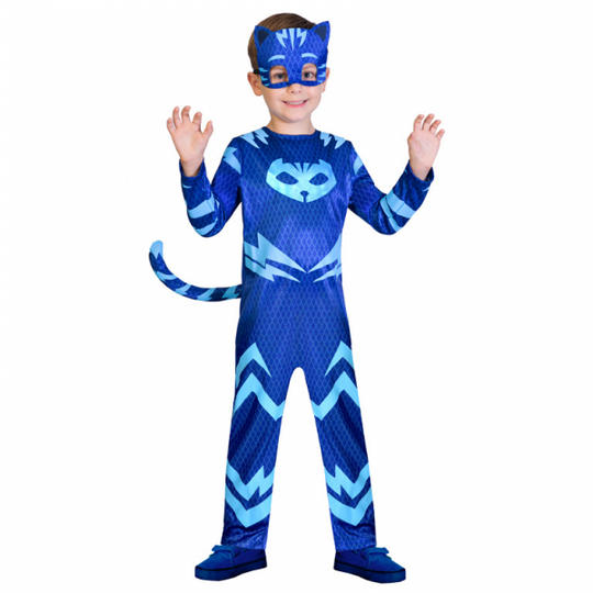 Kids PJ Masks Catboy Pyjama Superhero Fancy Dress Costume Childs Outfit  Thumbnail 1