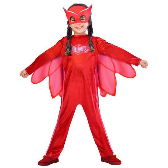 Kids PJ Masks Owlette Pyjama Superhero Fancy Dress Costume Childs Outfit  Thumbnail 1