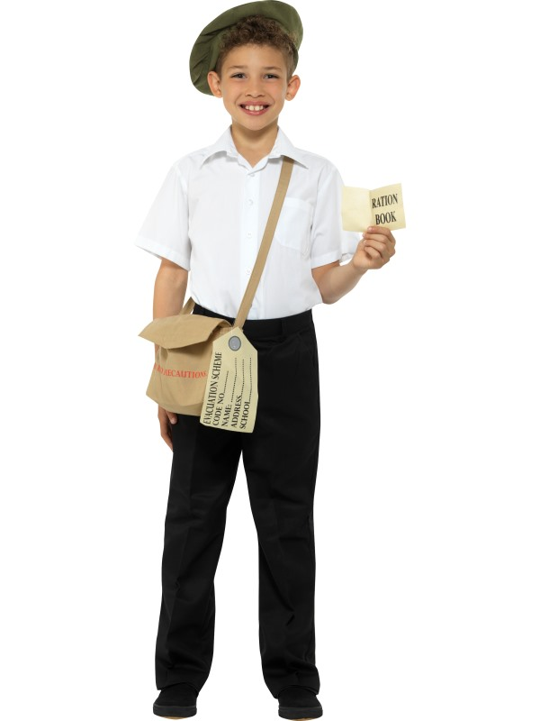 Boys 1940 British School Costume World War Kids Book Week Fancy Dress Outfit
