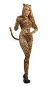 Leopard Costume Womens Fancy Dress Outfit Ladies Party Animal