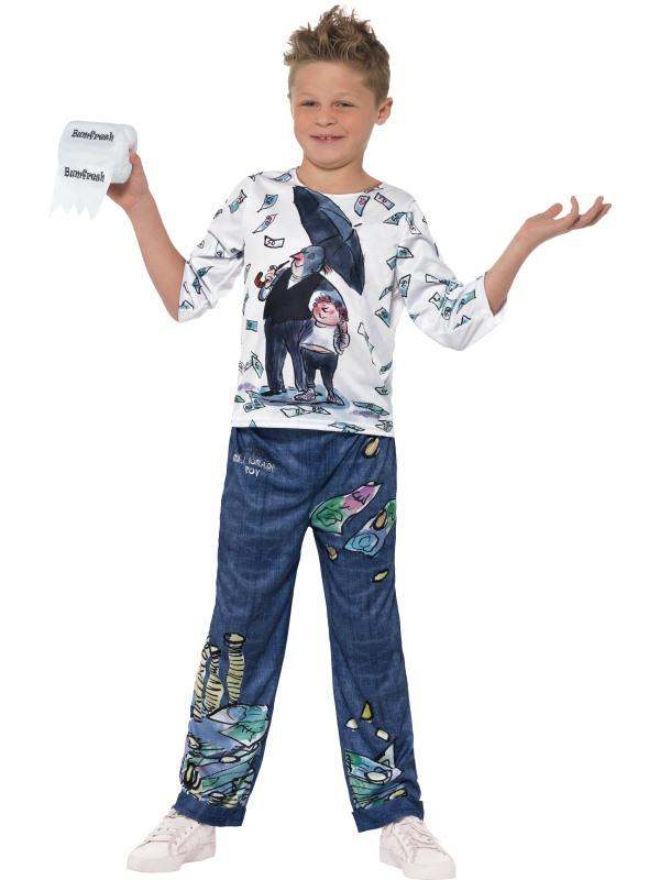 Boys Billionaire costume kids David Walliams school book week Fancy Dress Outfit