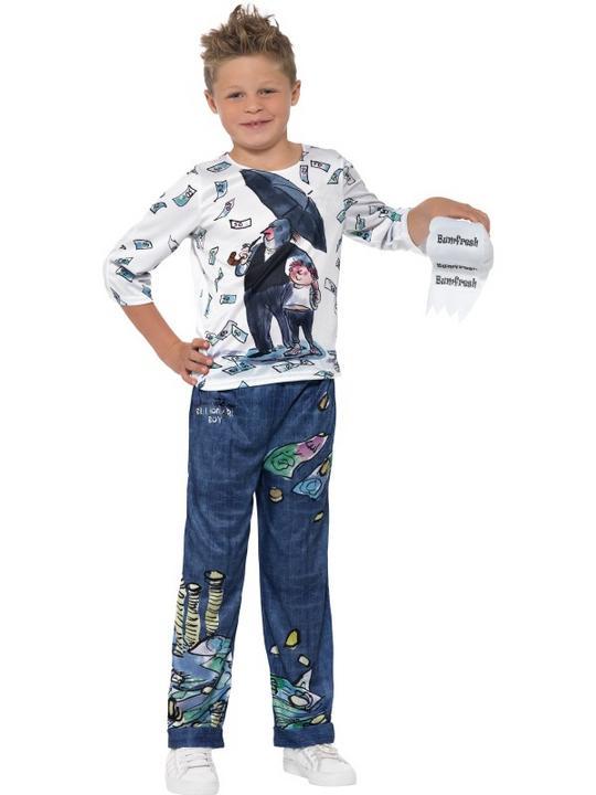 Boys Billionaire costume kids David Walliams school book week Fancy Dress Outfit Thumbnail 2