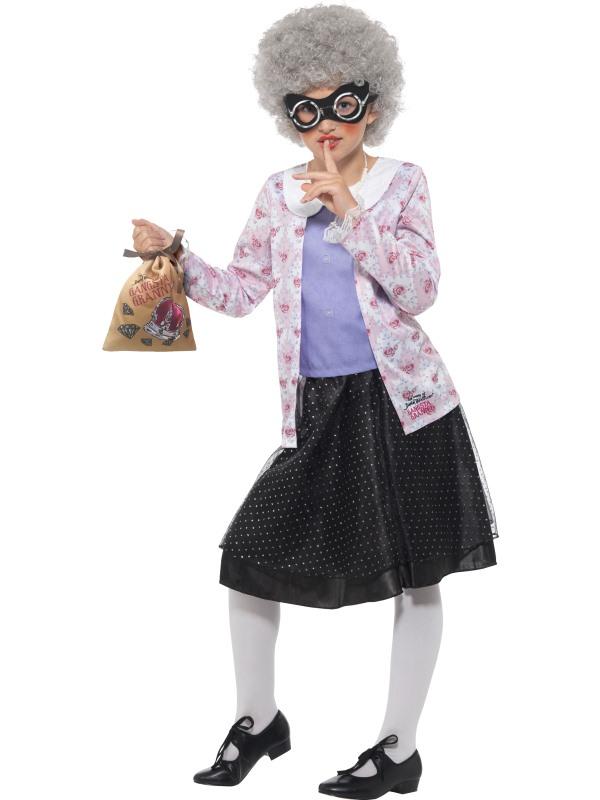 David Walliams Deluxe Gangster Granny Costume