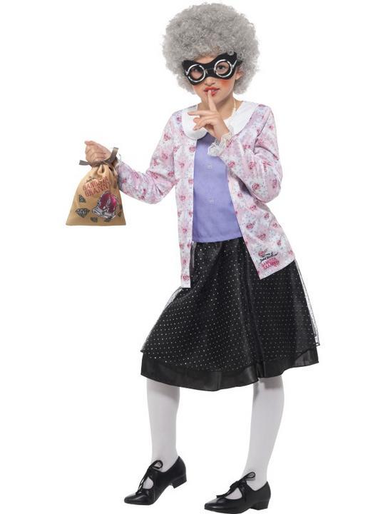 David Walliams Deluxe Gangster Granny Costume Thumbnail 1
