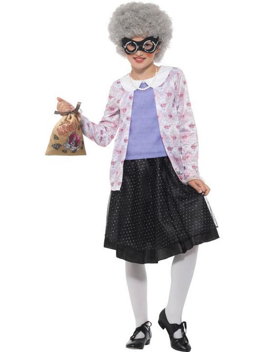 David Walliams Deluxe Gangster Granny Costume Thumbnail 2