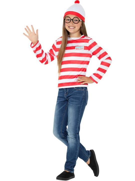 Girls boys Wheres Wally Kit costume kids school book week fancy dress outfit Thumbnail 2