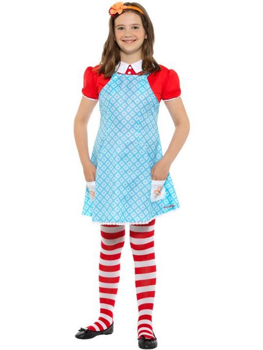 Girls Anne famous five costume kids school book week fancy dress enid blyton  Thumbnail 1
