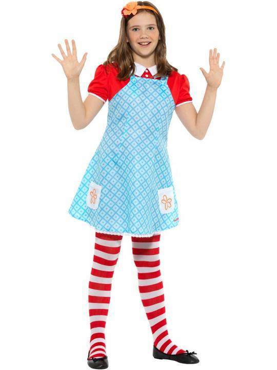 Girls Anne famous five costume kids school book week fancy dress enid blyton  Thumbnail 2