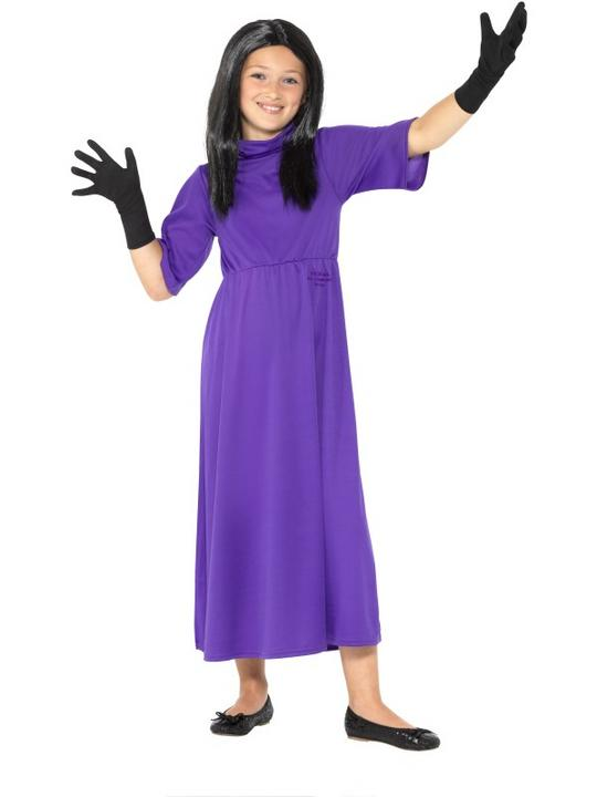 Roald Dahl Deluxe The Witches Girl's Fancy Dress Costume Thumbnail 1