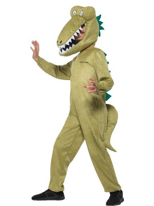 Boys Enormous Crocodile Costume Kids Roald Dahl School Book Week Fancy Dress Thumbnail 1