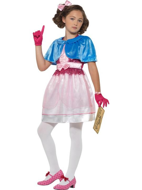 Roald Dahl Deluxe Veruca Salt Girl's Fancy Dress Costume Thumbnail 1