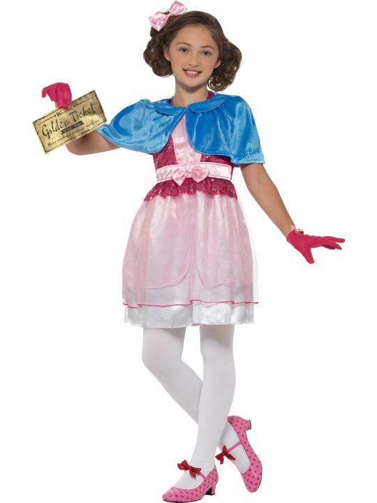 Roald Dahl Deluxe Veruca Salt Girl's Fancy Dress Costume Thumbnail 2