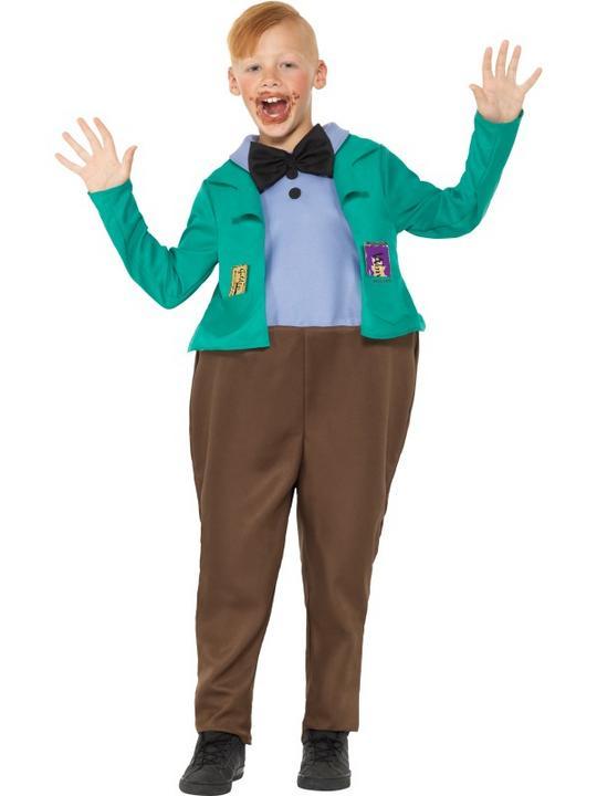 Roald Dahl Deluxe Augustus Gloop Boy's Fancy Dres Costume Thumbnail 1
