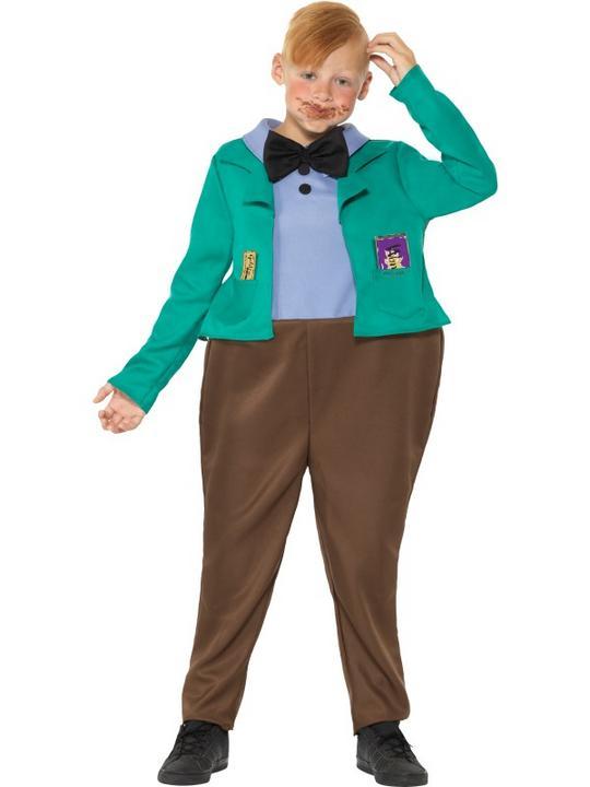 Roald Dahl Deluxe Augustus Gloop Boy's Fancy Dres Costume Thumbnail 2