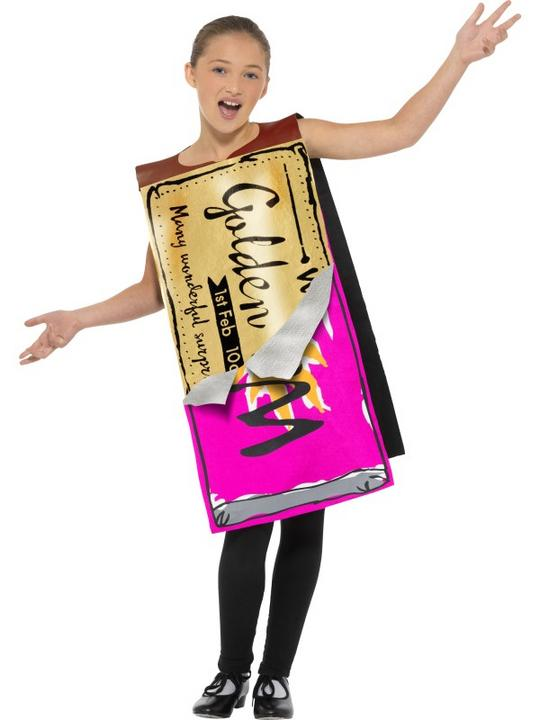 Roald Dahl Winning Wonka Bar Boys Fancy Dress Costume Thumbnail 2