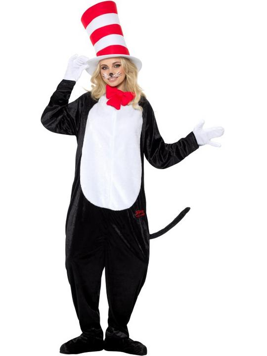 Dr Seuss Cat in the Hat Adult Fancy Dress Costume Thumbnail 1