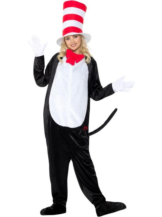 Dr Seuss Cat in the Hat Adult Fancy Dress Costume Thumbnail 2