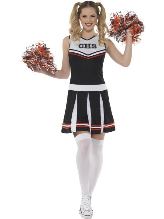 Cheerleader Women's Fancy Dress Costume Thumbnail 1