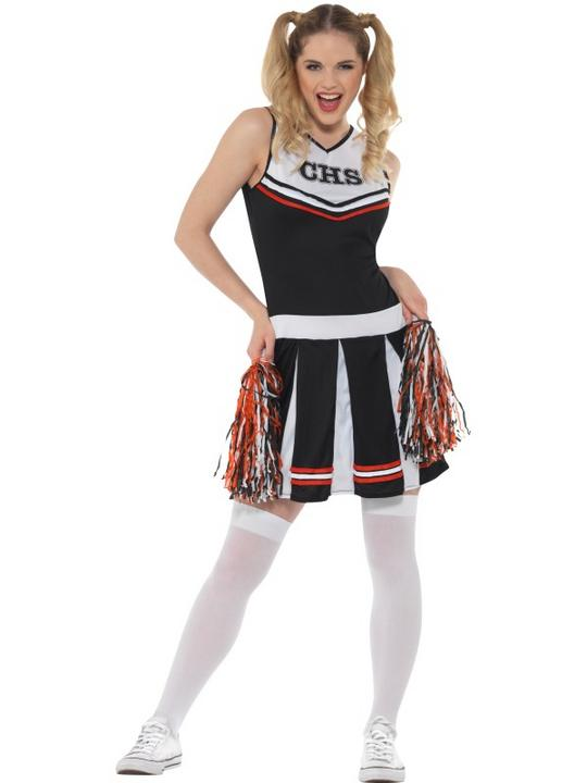 Cheerleader Women's Fancy Dress Costume Thumbnail 2