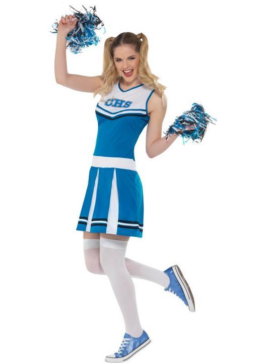 Cheerleader Women's Fancy Dress Costume Thumbnail 2