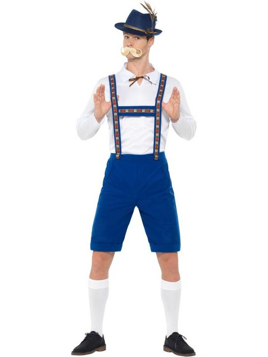 Bavarian Men's Fancy Dress Costume Thumbnail 2