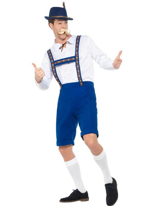 Bavarian Men's Fancy Dress Costume Thumbnail 4