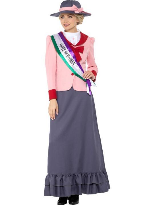 Deluxe Victorian Suffragette Women's Fancy Dress Costume Thumbnail 2