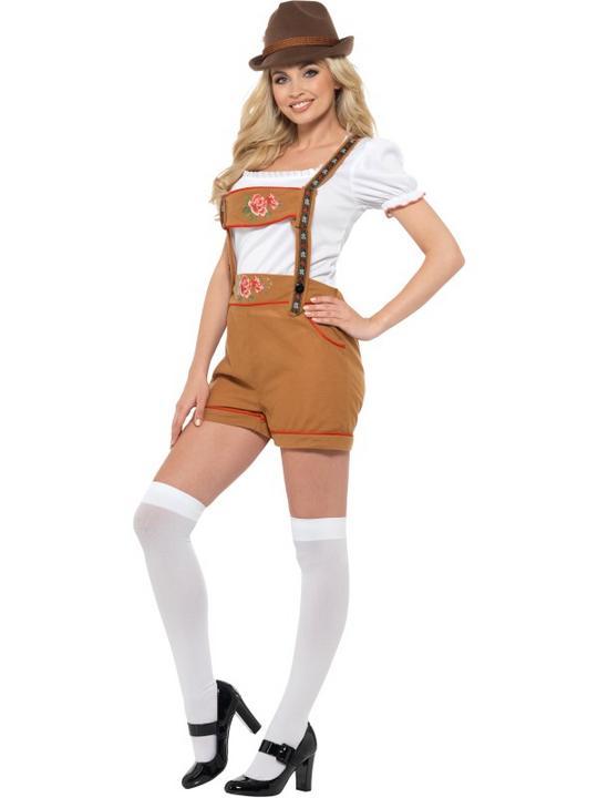 Sexy Bavarian Beer Girl Women's Fancy Dress Costume Thumbnail 2