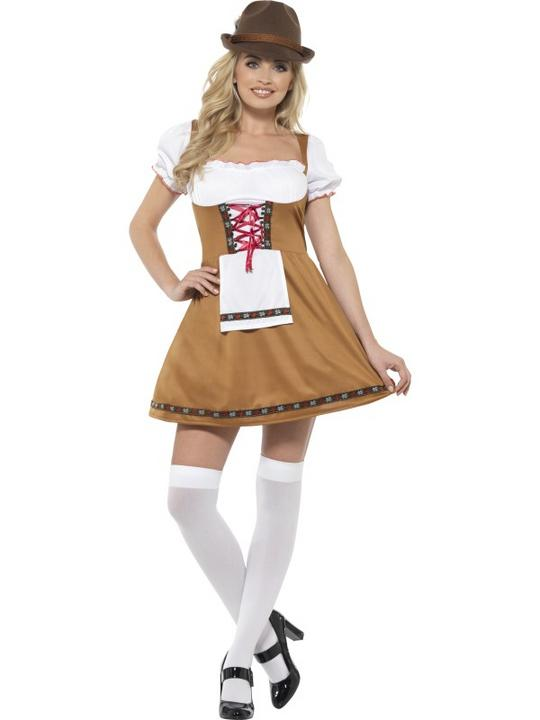 Bavarian Beer Maid Women's Fancy Dress Costume Thumbnail 1