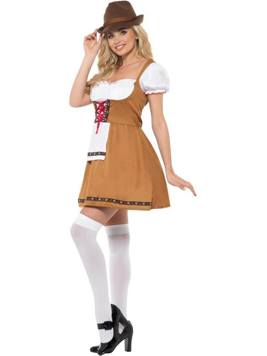 Bavarian Beer Maid Women's Fancy Dress Costume Thumbnail 2