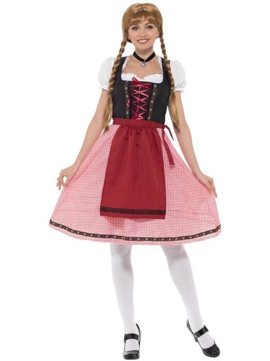 Bavarian Tavern Maid Women's Fancy Dress Costume Thumbnail 2
