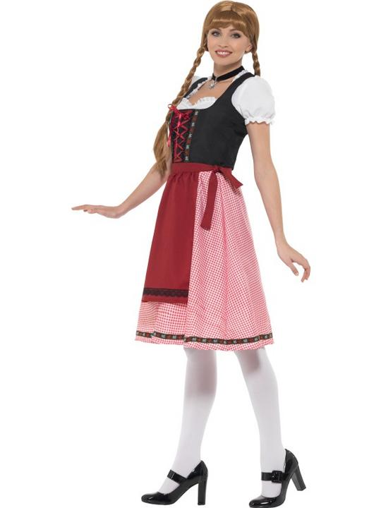 Bavarian Tavern Maid Women's Fancy Dress Costume Thumbnail 4