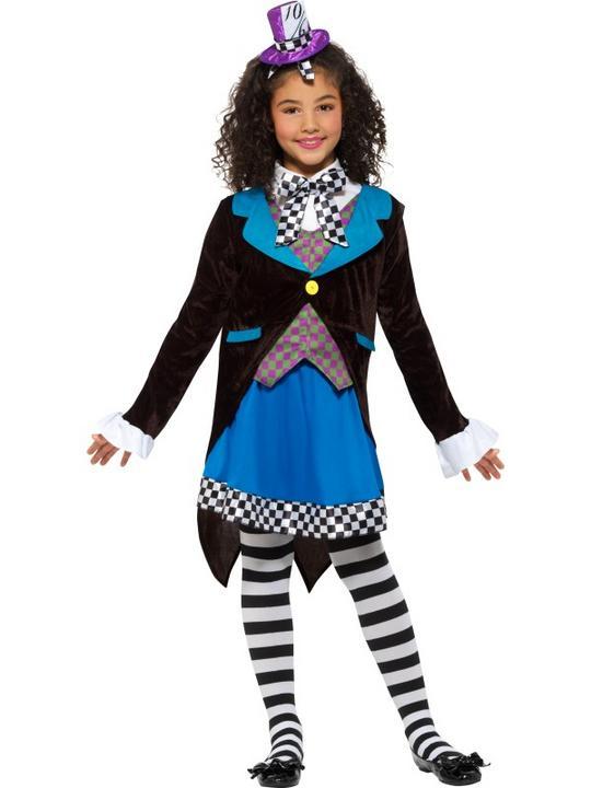 Little Miss Hatter Girl's Fancy Dress Costume Thumbnail 2
