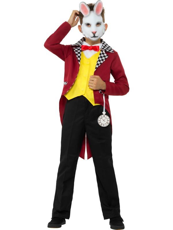 Boy's Rabbit Costume Alice Wonderland Kids School Book Week Story Outfit