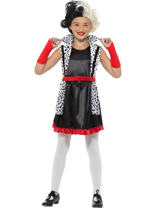 Evil Little Madame Girl's Fancy Dress Costume Thumbnail 1