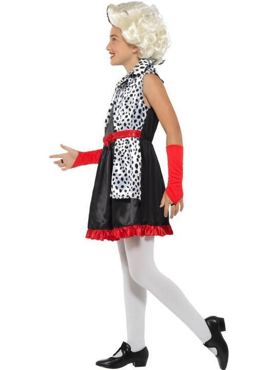 Evil Little Madame Girl's Fancy Dress Costume Thumbnail 4