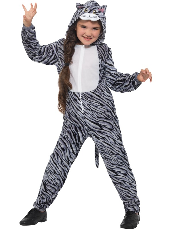 Tabby Cat Girl's Fancy Dress Costume
