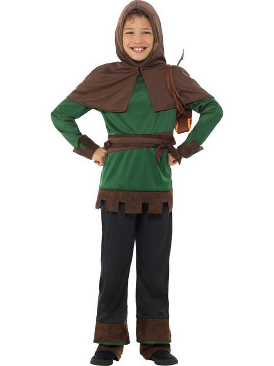 Boys Robin Hood Costume Kids School Book week Fancy Dress Medieval Oufit Thumbnail 2
