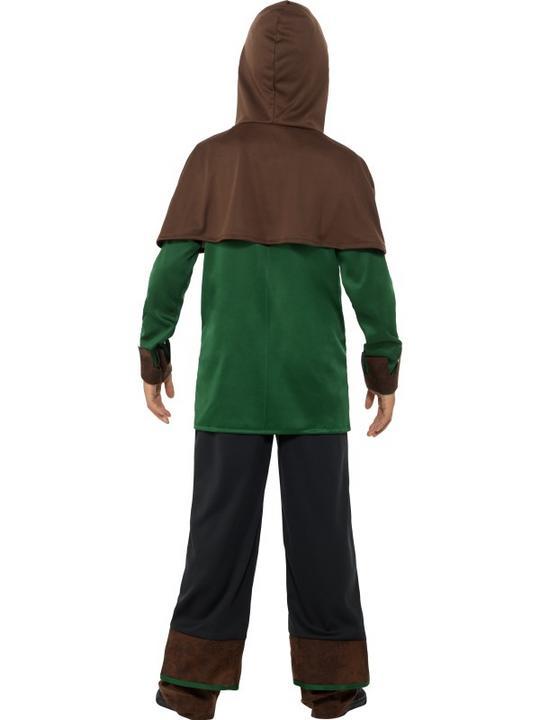 Boys Robin Hood Costume Kids School Book week Fancy Dress Medieval Oufit Thumbnail 3
