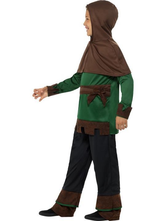 Boys Robin Hood Costume Kids School Book week Fancy Dress Medieval Oufit Thumbnail 4