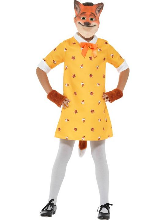 Girls Miss fox costume kids school book week fancy dress outfit Thumbnail 1