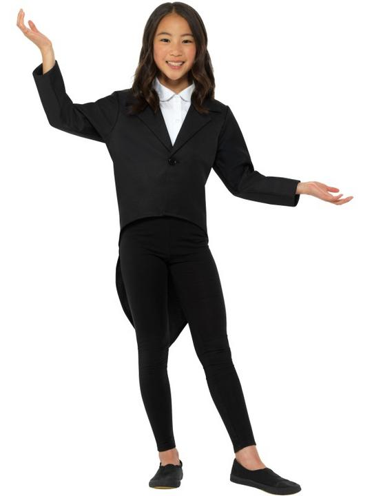 Tailcoat Black Boy's Fancy Dress Costume Thumbnail 2
