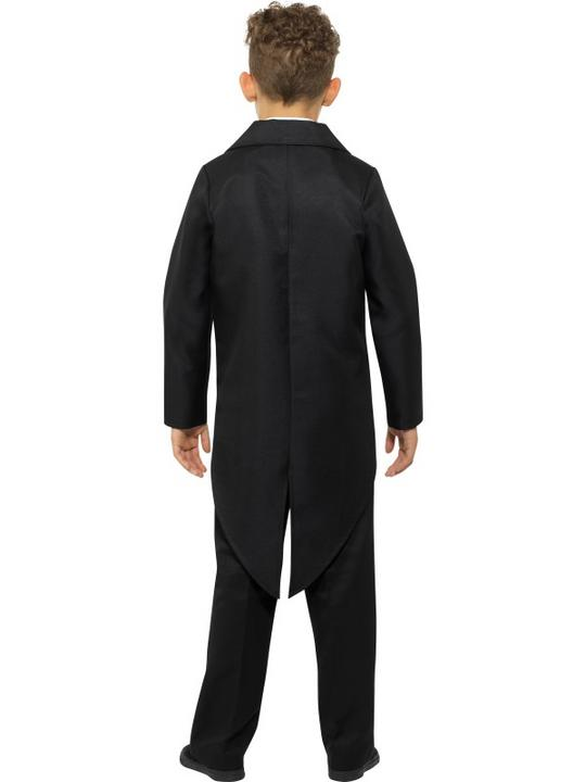 Tailcoat Black Boy's Fancy Dress Costume Thumbnail 3