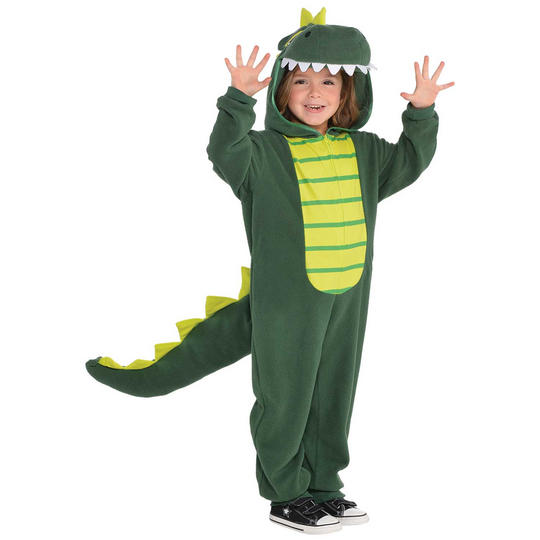 Dinosaur Zippster Kid's Fancy Dress Costume Thumbnail 1