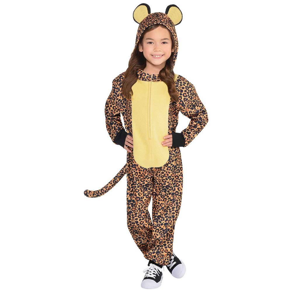 Leopard Zipster Fancy Dress Costume