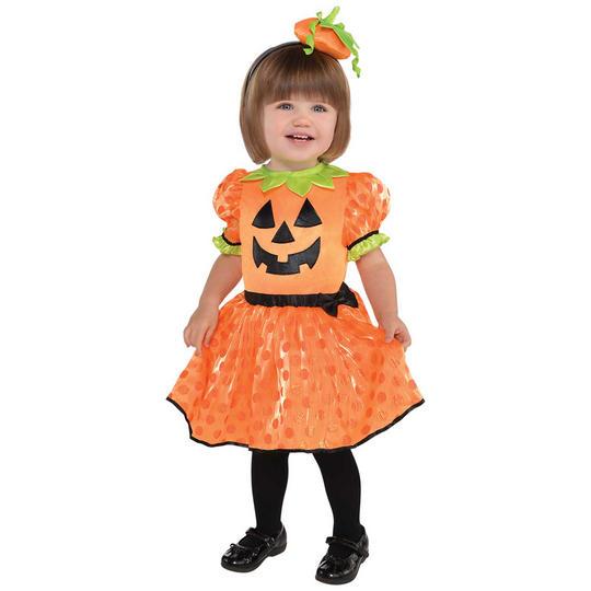 Pumpkin Baby Girl's Fancy Dress Costume Thumbnail 1