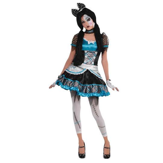 Shattered Doll Girl's Halloween Fancy Dress Costume Thumbnail 1