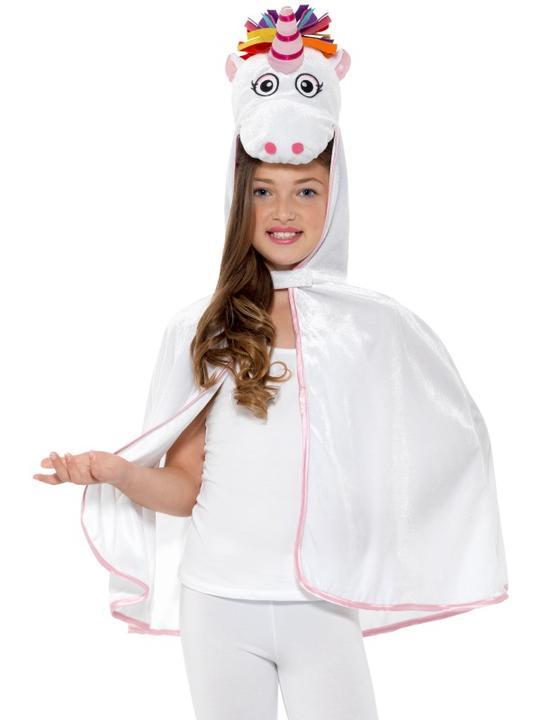 Girls Unicorn Cape Kids Fancy Dress Outfit Story Magical  Thumbnail 1