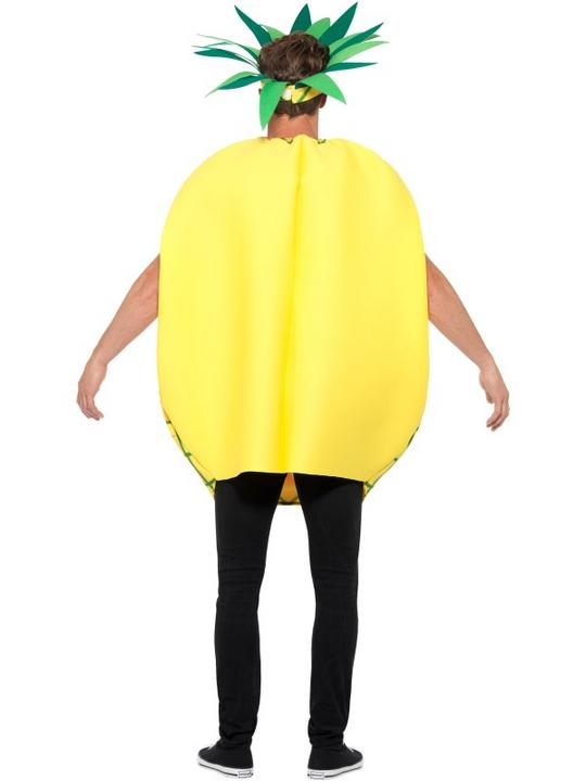 Mens Womens Pineapple Costume Adult Comedy Fruit Food Fancy Dress Outfit Thumbnail 3