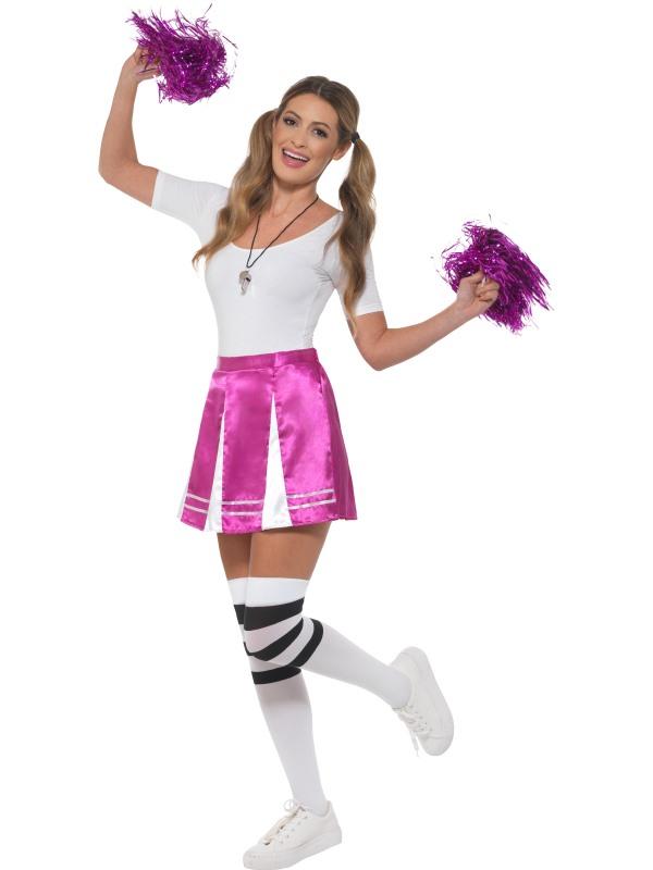 Cheerleader Womens Costume Ladies Fancy dress School Football Outfit party hen